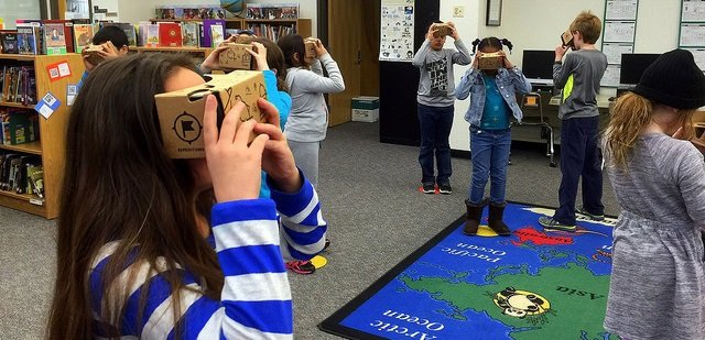 VR is becoming a reality in education. Source: K.W. Barrett/CC BY 2.0