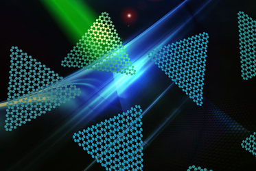 Two dimensional nano-flakes emit red photons for quantum communication technologies. Image Credit: UTS Research Team