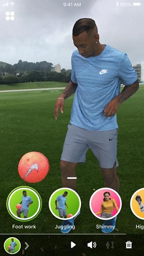 A hologram of Jerome Boateng, a soccer professional, as part of the Holo app. Source: 8i