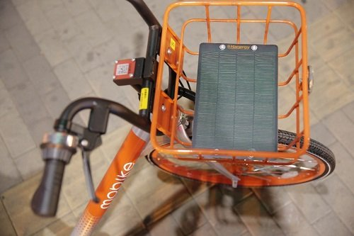 The solar panels will power smart locks and other options on the bikes. Source: Hanergy