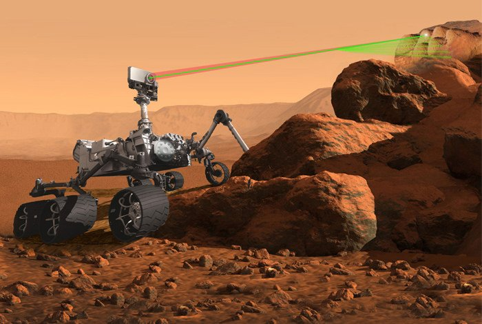 The Mars 2020 Rover with the ChemCam (NASA)