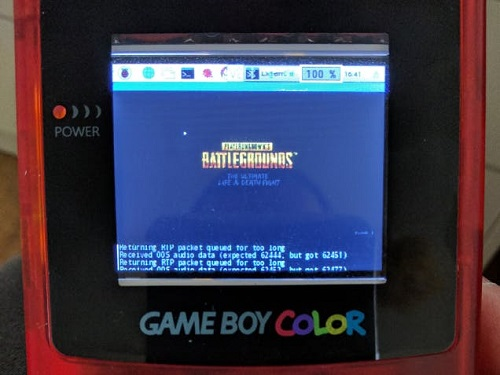 """Player Unknown's Battlegrounds"" played on a Game Boy Color. Source: Michael Darby"
