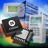 ON's AX5043 RF transceiver allows for a programmable radio architecture for configuration to many wireless communication standards and protocols. Source: ON Semi