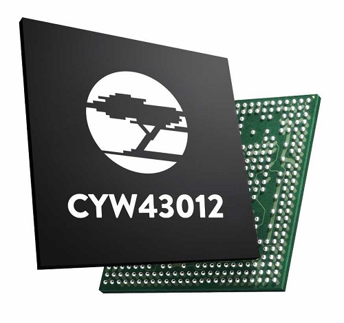 The CYW43012 combo chip. Source: Cypress Semiconductor