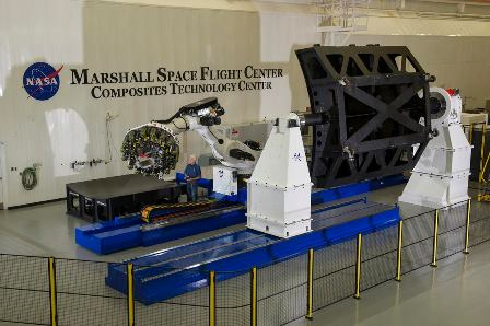 The new robotic composite fiber placement system. Image courtesy of NASA