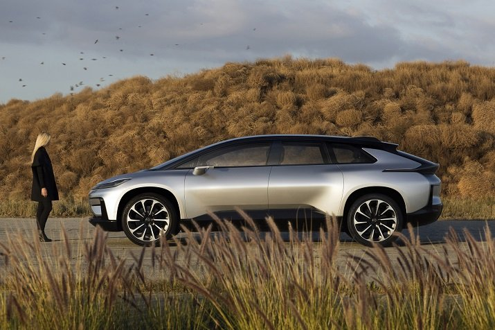 Faraday's first production vehicle, the FF 91, will include 10 HD cameras, 13 long and short range radars and 12 ultrasonic sensors. Source: Faraday Future