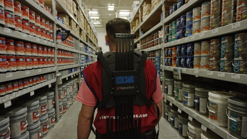 The exosuit is currently in a pilot project for stockers at a Virginia store. (Source: Lowe's)