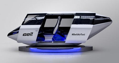 The air taxi will transport four passengers in an urban environment. Source: Bell Helicopter