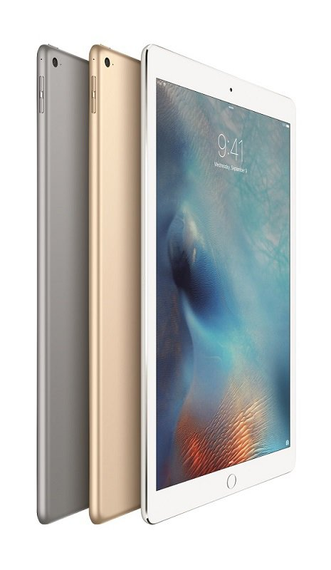 The Apple iPad Pro comes in three colors either silver, gold or space gray. Source: Apple