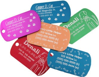 Figure 2: Customize an ID tag for your pet using laser engraving. (Source: Epilog Laser)