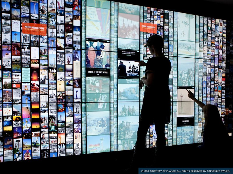 mega touchscreen skypad installed in seattles space needle electronics360