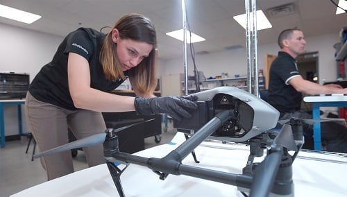 Researchers test extracting vital information from drones. Source: NIST