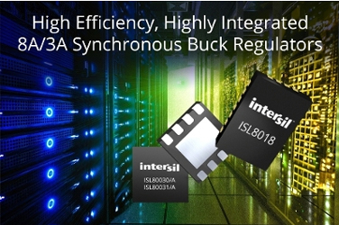 Highly efficient integrated synchronous buck regulators. Source: Intersil