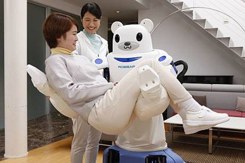 Robot assistants such as Riken's Robear may be able to help people, but it may also creep them out. Source: Riken